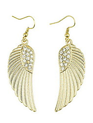 Gold Angle Wings Earrings