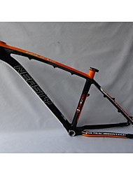 "MB-NT02 3K/12K 26"" Glossy 15""/17""NEASTY Brand Orange White Color Painted Mtb Frame Full Carbon Bike Frame"