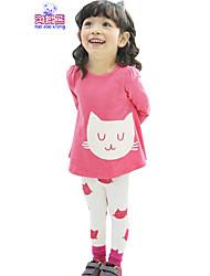 Waboats Winter Kids Girls Cartoon Printed Long Sleeve Top & Pant
