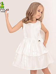 2015 Girl's Summer Ballet Embroidered Ball Gown Princess Dresses Sleeveless Vest Skirts Kids Clothes Children's Clothing