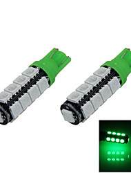 2X Green T10 17 SMD 5050 LED Car Clearance Reading Lamp Side Light DC 12V A014