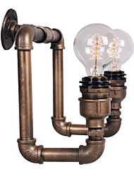 venta caliente americano pasillo de la vendimia de tubería de agua industrial lámpara de pared restaurante bar bombilla de Edison retro de