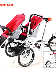 Pushchair-Bicycle for Twins Ruituo™ Convertible Stroller 3 in 1 Mother and Baby Family Bike for Double Baby