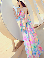 Women's Sexy Casual Micro Elastic Sleeveless Maxi Dress (Chiffon)