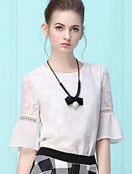 Women's Fashion ¾ Sleeve Chiffon Lace Blouse