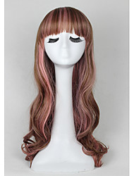Two Tone Ombre Synthetic Hair Wavy Long Wigs Cheap Fashion New Bob Wig For Cosplay Party Christmas Gift