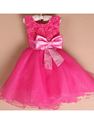 Kid's Beach/Casual/Cute/Party Dresses (Chiffon/Cotton/Mesh)