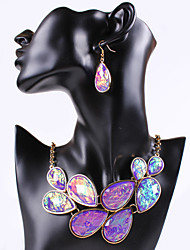 Women Vintage/Party/Work/Casual Alloy/Gemstone & Crystal/Cubic Zirconia Necklace/Earrings Sets