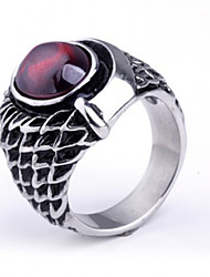 Men's Party/Casual Alloy/Titanium Fashion Ruby Steel Statement Rings