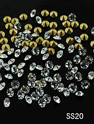 SS20 20pcs/lot New Nail Jewelry Czech Imported Rhinestone Golden Point Back for Fashion Ladies Nail Art Decoration