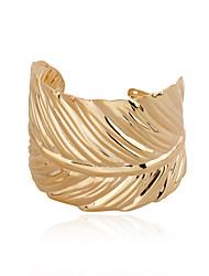 European Style Alloy Elegant Leaf Shape Cuff Bracelet Bangle
