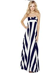 Summer style 2015 black white stripe elegant variety ways to wear maxi beach party women dresses