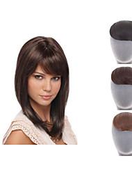 Clip naturale sulla frangia frangia capelli sintetici per le donne