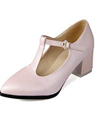 Chaussures Femme - Mariage / Habillé / Soirée & Evénement - Bleu / Rose / Blanc - Gros Talon - Talons / Bout Pointu / Bout Fermé - Talons