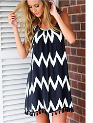 Hot Women's Sexy/Beach/Casual Straps Sleeveless Dresses (Cotton)