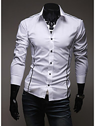High-Quality Chinese Style Mens Shirts Fashion 2015 Long-Sleeve Shirt 3 Color M-3XL
