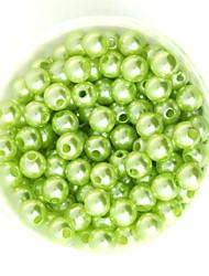 beadia 64g (aprox 300pcs) abs perlas 8 mm de luz de color de plástico suelta perlas redondas accesorios de bricolaje