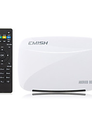 x700 emish quad-core rk3128 android 4.4 caixa de tv inteligente 1g / 8g, xbmc, Netflix, youtube, facebook, skype