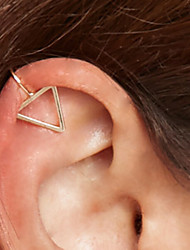 Fashion Simple Geometric Shape And Size Of The Triangle About Wearing Ear Clip(1pc)