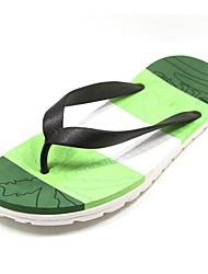Men's Shoes Casual Rubber Slippers Blue/Green/Red