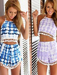 Arlena Women's Casual/Print Sleeveless Suits