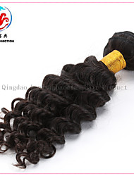 16 Inch Exquisite Cheap Price Original Human Hair Natural Colour Deep Wave Virgin Brazilian Hair Weft
