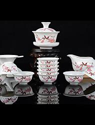 Set of 13pcs Porcelain Kongfu Tea Set Chinese Tea Tools Gift Combination (Random Color)
