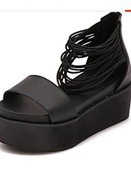 Women's Shoes Flat Heel Wedges Sandals/Pumps/Heels Casual Black
