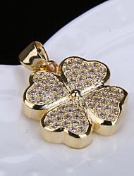 Alloy Jewelry Simple Generous Flower Gift Box Chain Pendant Necklace
