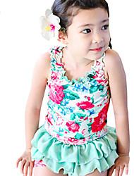 Children Kids Child Baby Girls Sleeveless Retro Flower 2 Pcs Swimsuit Clothes