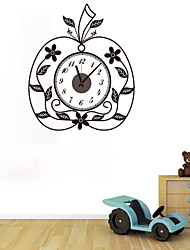 DIY 3D Creative Apple Wall Clock