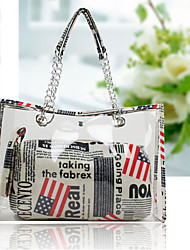 Handcee® Fashion Woman PU Transparent Tote Bag