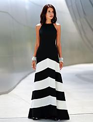 Women's Round Dresses , Cotton Party Sleeveless SASA