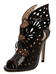 Wife Lise Women's Shoes Black/Gold Flat Heel Sandals (PU)