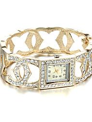 Sjeweler Girls Female Elegant 24K Gold Plating Bracelet Watch