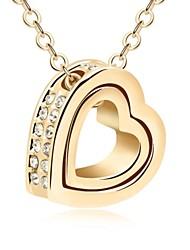 para siempre collar juntos corto plateado con piedras claras de cristal austriaco cristalizadas 18k verdadera oro