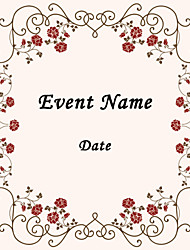 Personalized Product Labels /  Wedding Envelope Seals Stickers Flower Design Square Pattern (Set of 48pcs)