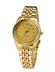 2015 женщин наручные часы с роскошные золотые полосы моды платье часы совершенно новый нержавеющей стали Relogio Женщина для