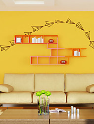 Wall Stickers Wall Decals, Modern Paper Plane PVC Wall Stickers