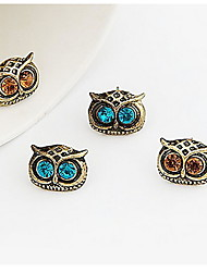 (1 Pc) Fashion Exquisite Owl Shape Coppery Drop Earrings