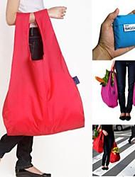 4pcs establecer bolsas de almacenamiento plegables portátiles bolso de compras de color al azar