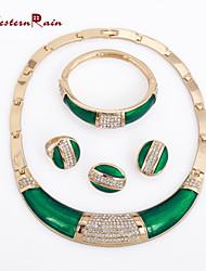 Vintage/Party - Damen - Halskette/Ohrring/Armband/Ring ( Legierung/Strass )