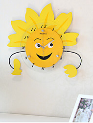 Cartoon Cute Sun Flower Clock for Birthday Gift