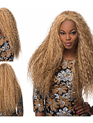 Synthetic African american wigs Long Kinky Curly hair Natural Full wigs for women