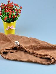 Toalla de Baño Blanco / Chocolate,Sólido Alta calidad 100% Microfibra Toalla
