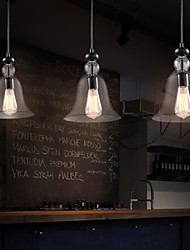 Modern Characteristic 3 Light Pendant With Transparent Shade