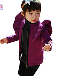 Waboats Winter Girls Zipper Butterfly Solid Long Sleeve Jacket