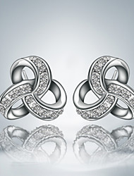 Hot Selling Cute/Party/Casual Silver Plated Unique Design Stud Earrings Classical Design
