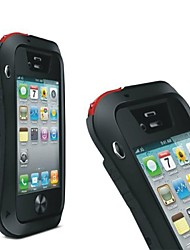 Para Antigolpes / Antipolvo / Impermeable Funda Cuerpo Entero Funda Armadura Dura Metal para Apple iPhone 4s/4