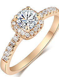 Maria Women's Korean-style Good Quality 18K Gold-plated Jewelry Inlaid Zircon Ring